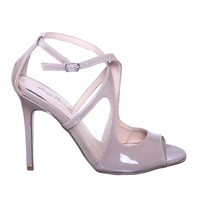 High Heel Dress Pump with Open Toe Front