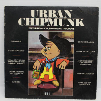 URBAN CHIPMUNK ALBUM, Vintage record, 1981 Vintage Vinyl Album, Vintage Alvin, Simon, and Theodore music, Alvin and the Chipmunks record