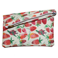 Strawberry Mini Zipper Clutch