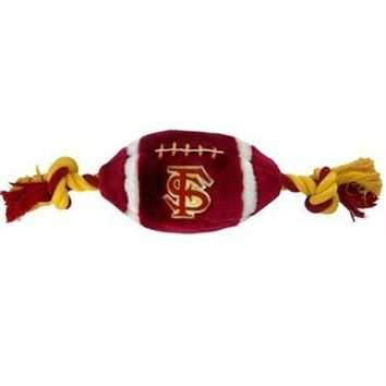 ONETOW Florida State Seminoles Plush Football Dog Toy