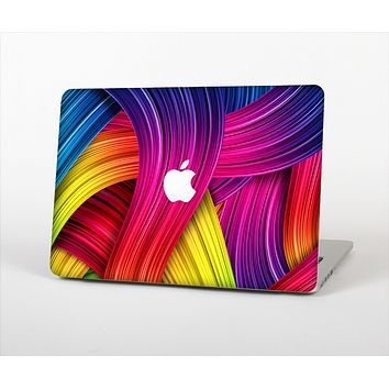 """The HD Vibrant Colored Strands Skin Set for the Apple MacBook Pro 15"""""""