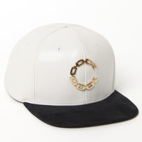 Crooks and Castles Thuxury Chain C Strapback Hat - Mens Backpack - White - One