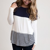 Double Decker Color Block Top