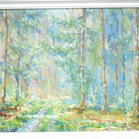 """Forest Painting, Nature, """"Spring Forest"""", Oil Painting, Impasto, Home Decor, Gift, Birthday Gift, Mother Day, Anniversary, Spring, Landscape"""