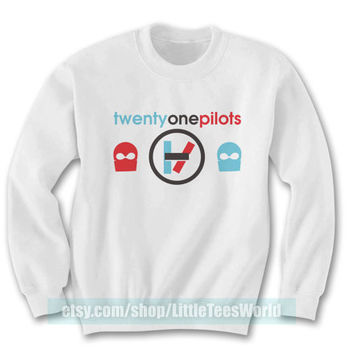 Twenty One Pilots Sweatshirt Crewneck Twentyonepilots Sweater Men Women Clothing White LTW071