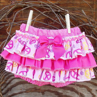 Ruffled Baby Bloomers, diaper cover,Spring, Easter, Pink, Photo Prop size 6 months,