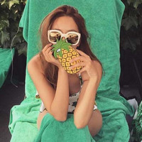 3D Pineapple iPhone 5s 6 6s Plus Case Cover + Free Gift Box