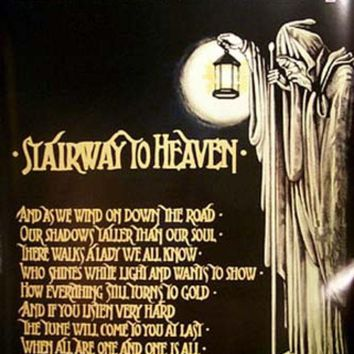 Led Zeppelin Stairway to Heaven XL Giant Poster 40x60 Day-First™