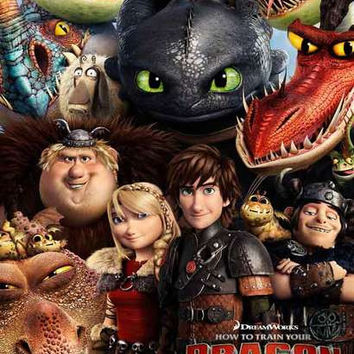 How to Train Your Dragon 2 Movie Cast Poster 11x17