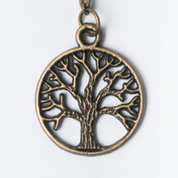Tree of Life Necklace, Tree Necklace, Tree Jewelry, Tree Charm, Tree of Life, Tree Pendant, Woodland Jewelry, Gift for Friend, Gift Idea,