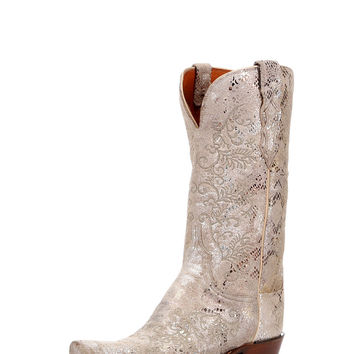 Lucchese Women's Stone Python Print S5 Toe Boot