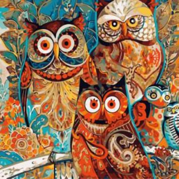 Frameless Pictures DIY Oil Painting By Numbers Paint On Canvas Modern Wall Pictures For Living Room Abstract Oil painting owls