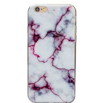 Purple and White Marble Case  For  iPhone  6 6s,  6s Plus
