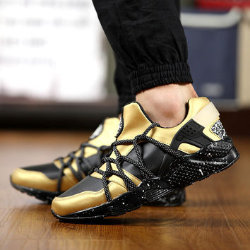 Custom Gold Huarache Run