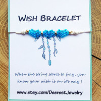 Wish Bracelet -Blue Heart Bracelet-Tiny Bracelet