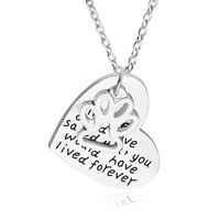 if love could have saved you ,you would have lived foever New Fine Silver Dog Paw Print Heart Pendant Necklace Pet Animal foot