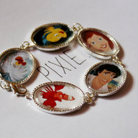 The Little Mermaid cameo bracelet   Disney by PIXIEandPIXIER