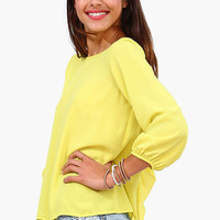 Yellow and Leopard Printed Blouse