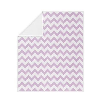 Light Purple Chevron Pattern Fleece Blanket