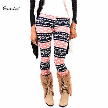 Winter Women Leggings Christmas Retro Casual Slim Tribal Print Pants Ladies Skinny  Warm Workout Leggings Roupa Mujer 1642053