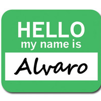 Alvaro Hello My Name Is Mouse Pad