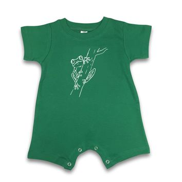 Frog Short Sleeve Infant Romper