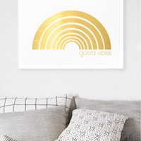 Good Vibes Limited Edition Gold Foil Print by Hunters & Gatherers | Art - Hunters and Gatherers