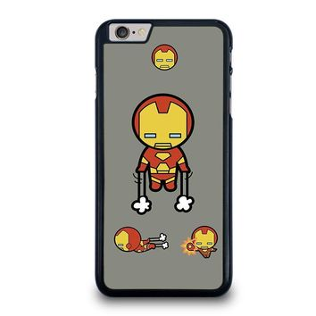 iron man kawaii marvel avengers iphone 6 6s plus case cover  number 1
