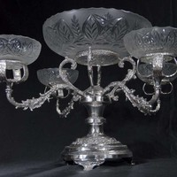 Canonbury - English Silver Plate Rococo Dish Epergene Centrepiece Bowl