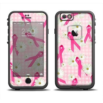 The Pink Ribbon Collage Breast Cancer Awareness Apple iPhone 6/6s Plus LifeProof Fre Case Skin Set