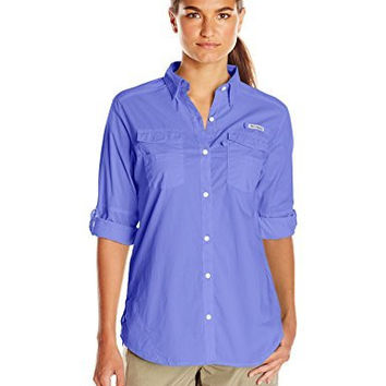 Columbia Women's Bonehead II W Long Sleeve Shirt, Medium, Purple Lotus