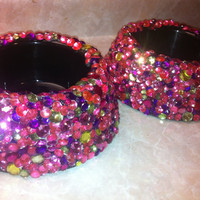 Custom Sequin Dog Bowl small