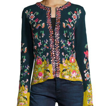 Embroidered Folkloric Cardigan, Size: