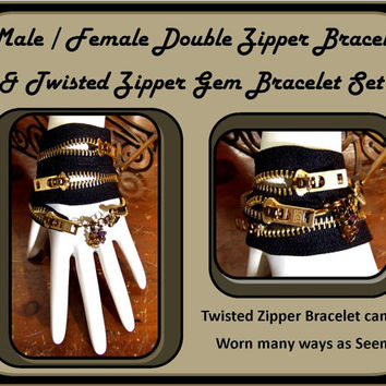 cool couples jewelry, mens gift ideas, male bracelet, mens jewlery, zipper bracelets,cuff bracele,,his hers jewerly, bracelets
