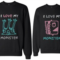 365 IN LOVE I Love My Monster Couple Sweatshirts (Two Sweatshirt)
