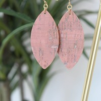 Rose Leather Earring
