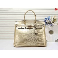 Hermes Classic Trending Women Leather Tote Handbag Shoulder Bag Satchel 8# Golden