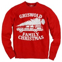 National Lampoon's Vacation Griswold Family Christmas Red Adult Sweater