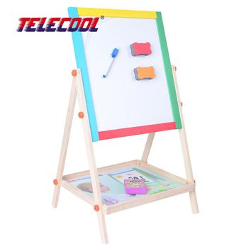 TELECOOL Wooden Double-sided Magnetic Drawing Board Writing Board Sketchpad Easel Fantastic Blackborad Educational Kid Toys