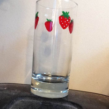 Nana inspired strawberry glass