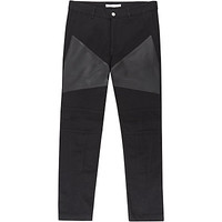 Givenchy Leather Panel Biker Jeans