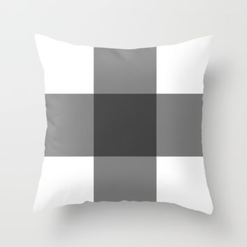 #39 Squares Throw Pillow by Minimalist Forms