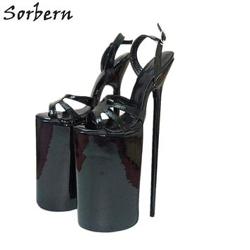 Sorbern 30Cm Thin High Heel Sandals Women Sexy Fetish Shoes Party Dance Show Heels Made-To-Order Platform Sandals Dropshipping Macchar Cosplay Catalogue