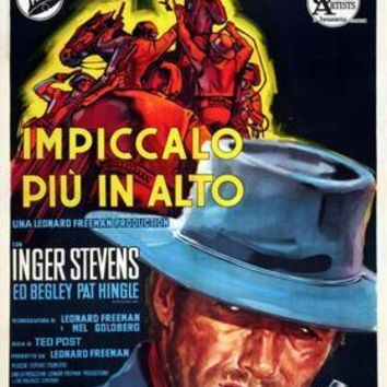 Hang Em High Italian movie poster Sign 8in x 12in