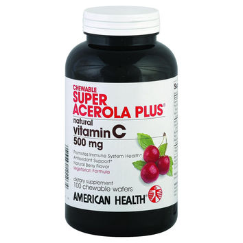 American Health Super Acerola Plus - 500 mg - 100 Chewable Wafers