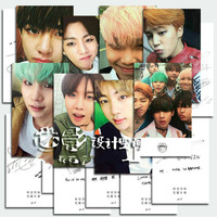 K-pop BTS Photos Poster Cards Bangtan Boys Album BTS Postcard Paragraph Card 8Cards Kpop BTS Posters