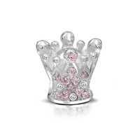 Bling Jewelry Pink Crown Charm
