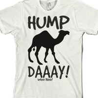 Hump Day tee t shirt top tshirt-Unisex White T-Shirt