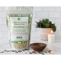 Green Tea Detox Infusion - Best Bath Sea Salt Mix - Rejuvenating Antioxidant - Balances and Relaxes the Body and Spirit