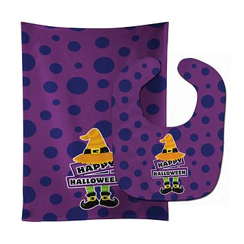 Happy Halloween Baby Bib & Burp Cloth BB8787STBU